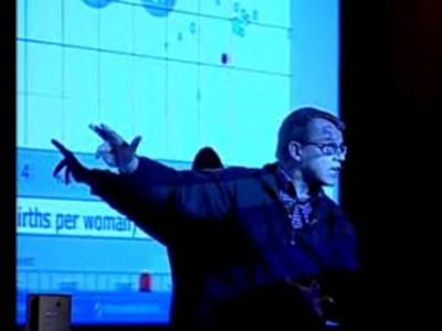 Hans Rosling gets in the beam