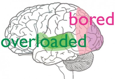 brain overloaded and bored